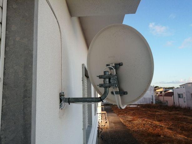 Antena com lnb 4 saídas