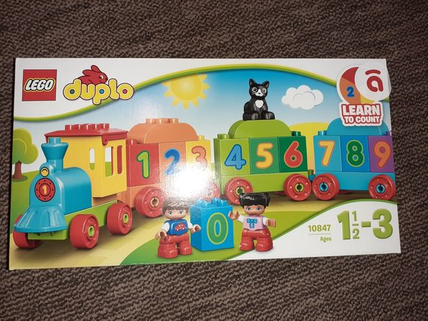 Lego Duplo паравозик з цифрами новий комплект