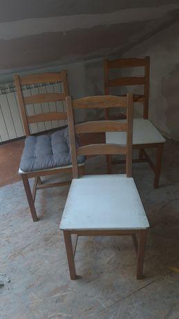 Stół ikea krzesła drewno drewniane