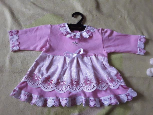 Детские платья до полтора года. 3 штуки