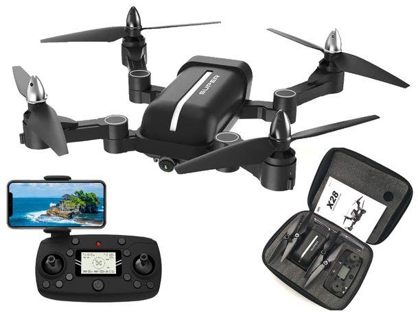 Dron z gps X28 follow me silniki bezszczotkowe