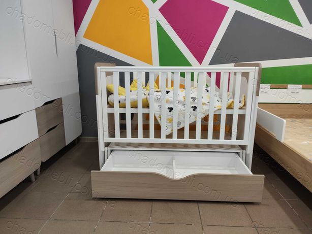 Дитяче ліжечко з механізмом качалка Верес /Детская кроватка с механизм