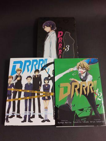 Durarara!! / Drrr!! Tom 1, 2, 3 zestaw Manga