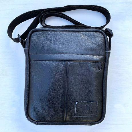 Мужская кожаная сумка MASSKIM, чоловіча шкіряна барсетка , планшетка.