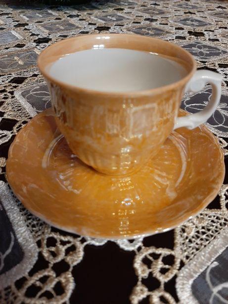 Vintage porcelana Włocławek lata 70 filiżanka spodek marmurek