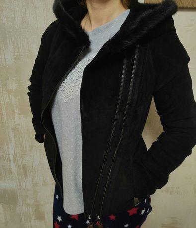 Курточка косуха натуральная замшевая