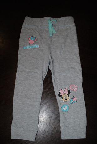 49->spodnie dresy MINNIE DISNEY C&A r.92 18-24mca