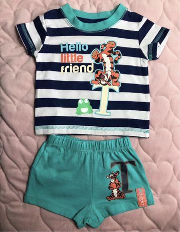 Komplet letni niemowlęcy bluzka+spodenki
