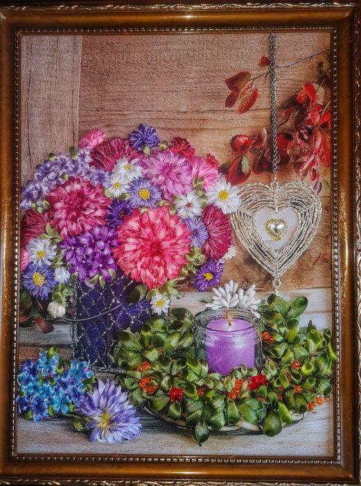 Продам картину вышита лентами Новогродовка - изображение 1