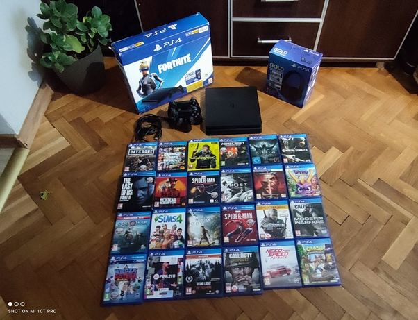 PS4 Slim Najnowszy Model 2 Pady Gry Słuchawki Kamerka Playstation
