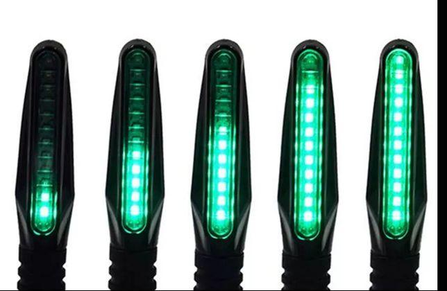 Led поворотники зеленые плавающие 4шт