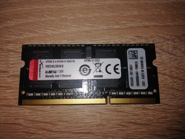 Pamięć Ram Kingston Hyperx DDR3 8GB 1600mhz cl9