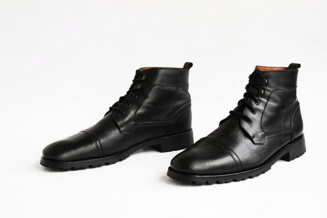 ботинки полуклассические c натуральной кожи Hardware (Italy)