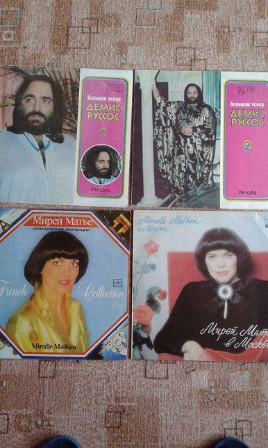 Denis Roussos, Mireille Mathieu zestaw 4 płyty winylowe