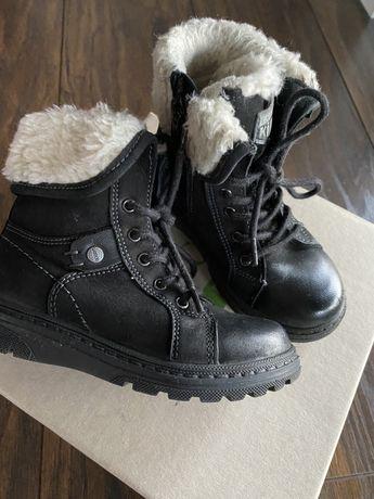 Kozaki/ buty zimowe skóra r.24