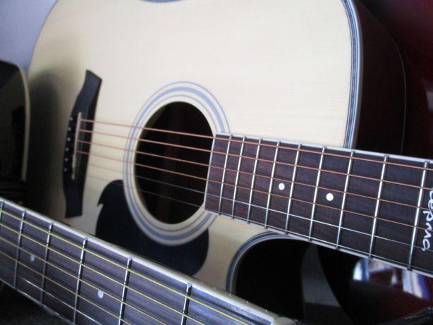 Gitara klasyczna akustyczna elektryczna z pokrowcem i gwarancją
