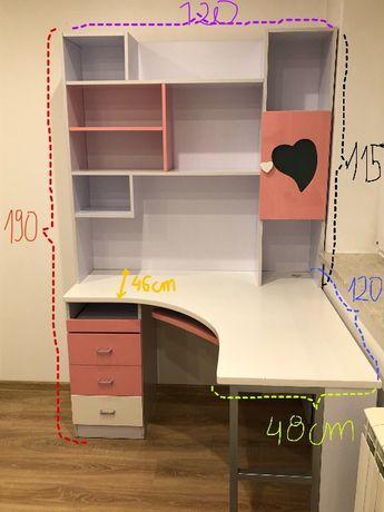 meble dziewczęce (łóżko, biurko z nadstawką, szafka nocna)