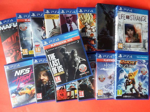 PS4 GRY Last Of Us GTA5 GOW horizon call of duty mafia ratchet jedi