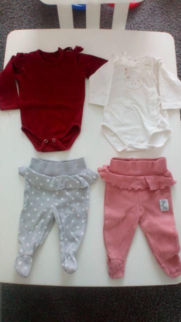 Mini paka ubrań dla dziewczynki - półśpiochy, body Pinokio i LalaBubu