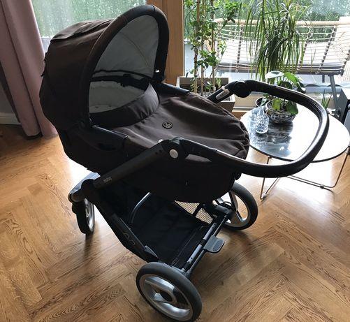 Wózek Mutsy Evo gwarancja 06/2019 gondola, stelaż i adaptery
