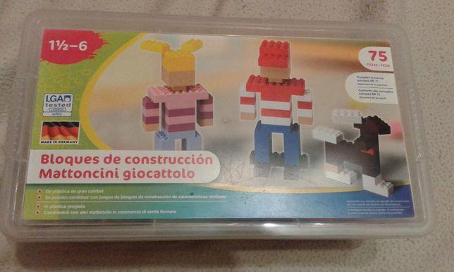 Caixa 75 Peças Legos - Peças c/ Glitter - Nova