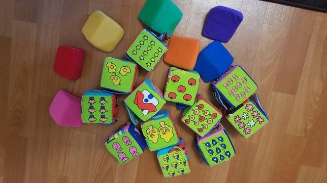 Кубики мягкие развивающие