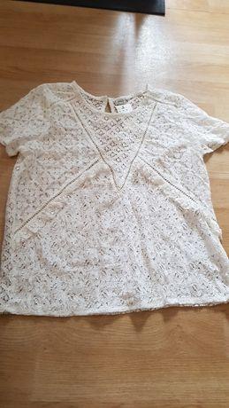 Pimkie m/38 koszulka bluzka koronkowa nowa biała