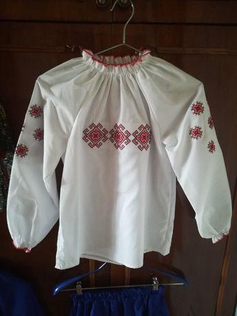Украинский костюм для девочки (вышиванка юбка), 8-10 лет
