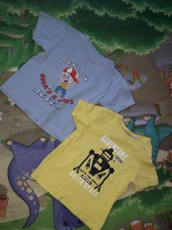 2 koszulki t-shirty 92 za darmo