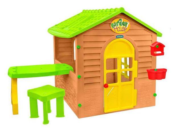 Domek plastikowy dziecięcy z stolikiem i krzesełkiem nowy,gwarancja