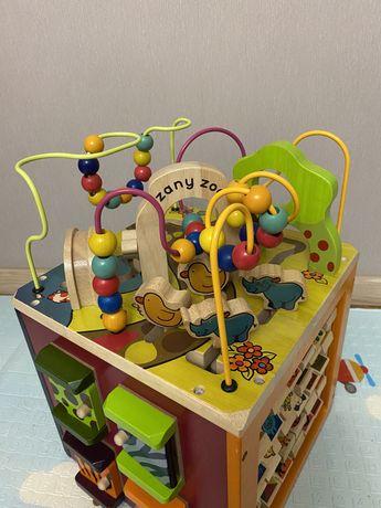 Развивающая деревянная игрушка Battat Зоо-куб  бизикуб
