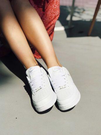 Кросівки Nike Air Force White Найк Аір Форс 1 білі Топ