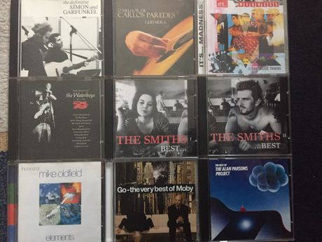 The Smiths, Moby, Mike Oldfield e outros CD's