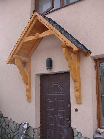 Daszek drewniany nad drzwi wejściowe Solidny!