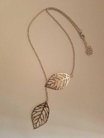 Nowy wisiorek naszyjnik łańcuszek liść liście