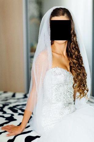 Свадебное платье с камнями Swarovski