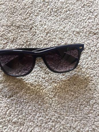 Oculos de sol aste azul/ armacao preta e azul
