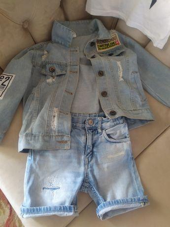 Продам стильний піджак джинсовий та шорти