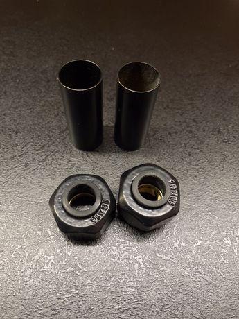 Czarne złączki do instalacji miedzianej + tuleje czarne
