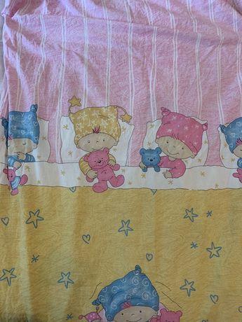 Комплект постельного белья. Детское. Одеяло. Простынь. Пододеяльник