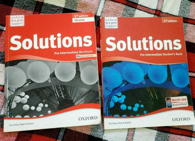 Solutions pre-intermediate student's book and workbook 2nd edition