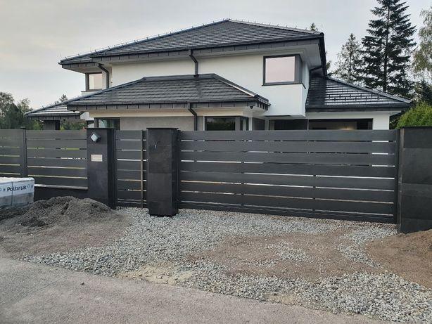 Brama Przesuwna Wjazdowa Palisadowa Nierdzewna Aluminiowa Na Wymiar
