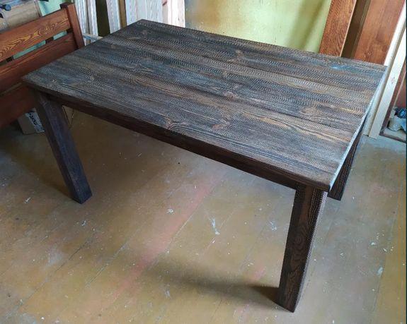 Szczotkowany stół kuchenny 120x80 / na zamówienie / NOWY