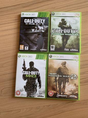 Gry xbox 360 Call of DutyGhosts, Modern warfare 2 , 4, MW3