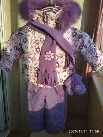 Зимний костюм Klko на принцессу 1,5-3годика подойдёт,теплый удобный .!