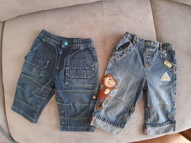 Chłopięce jeansy H&M i Next r.68