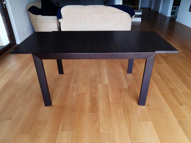 Stół (rozkładany) i stolik kawowy BRW bardzo dobry stan, brąz, wenge