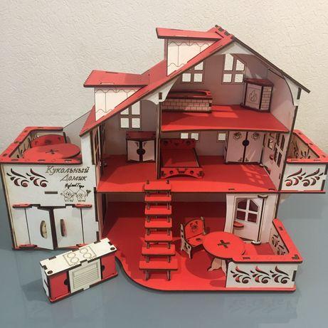 Домик кукольный дом для кукол для девочек lol лол подарок с мебелью
