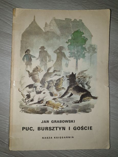 Książka lektura Puc Bursztyn i goście Jan Grabowski 1988