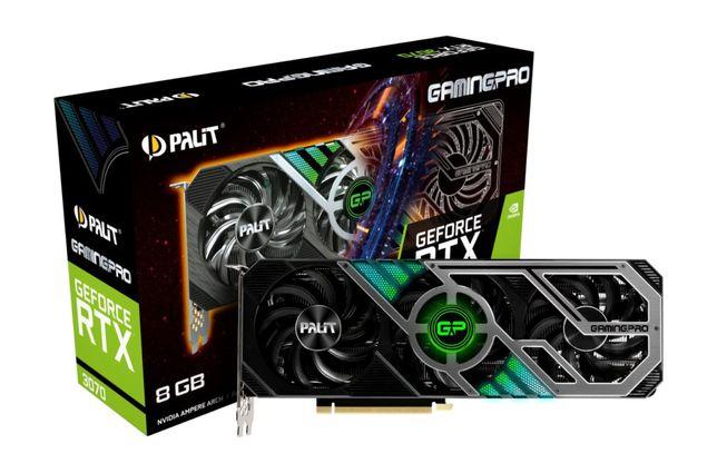 Видеокарта GF RTX 3070 8GB GDDR6 GamingPro Palit